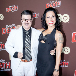 "Murray Hill, Angie Pontani in Premiere of ""Bored to Death"" Season 2 - Arrivals"