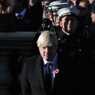 Boris Johnson in Sunday Commemorating Sacrifices of The Armed Forces
