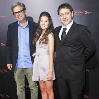 Ole Bornedal, Natasha Calis, Sam Raimi in The Premiere of The Possession - Arrivals