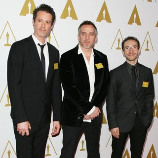 Craig Borten, Jean-Marc Vallee, Martin Pensa in The 86th Oscars Nominees Luncheon - Arrivals