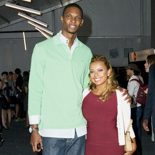 Chris Bosh, Adrienne Williams in Mercedes-Benz IMG New York Fashion Week Spring-Summer 2011