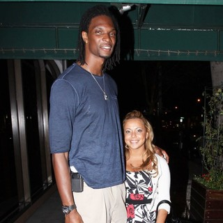 Chris Bosh, Adrienne Williams in Chris Bosh Seen Outside Madeo's Restaurant