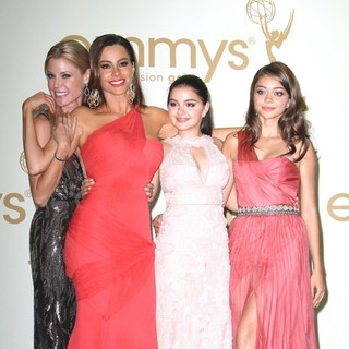 Julie Bowen, Sofia Vergara, Ariel Winter, Sarah Hyland in The 63rd Primetime Emmy Awards - Press Room