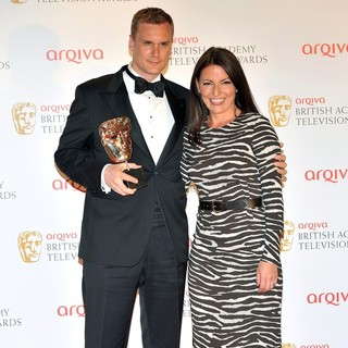 Darren Boyd, Davina McCall in The 2012 Arqiva British Academy Television Awards - Winners Board