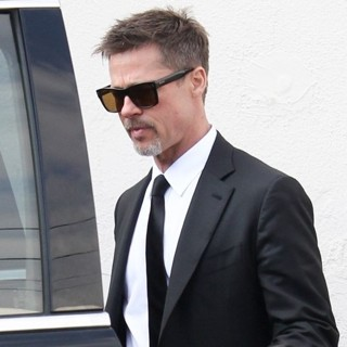 Brad Pitt Leaves Craig's Restaurant