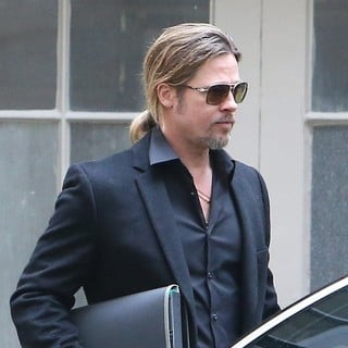 Brad Pitt Is Seen After Shopping in Paris