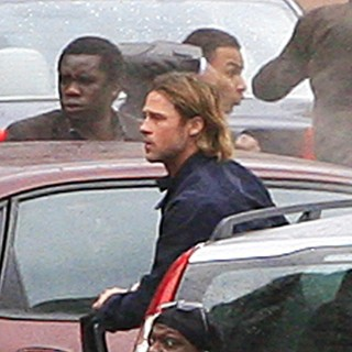 Brad Pitt in World War Z Filming on Location