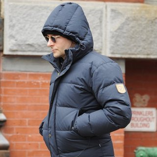 Bradley Cooper on His Way to Work