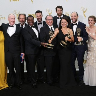 Sufe Bradshaw, Matt Walsh, Gary Cole, Sam Richardson, Reid Scott, Kevin Dunn, Timothy Simons, Julia Louis-Dreyfus, Tony Hale, Anna Chlumsky in 67th Primetime Emmy Awards - Press Room