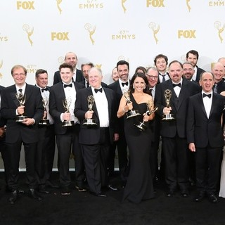 Sufe Bradshaw, Matt Walsh, Sam Richardson, Gary Cole, Reid Scott, Julia Louis-Dreyfus, Kevin Dunn, Timothy Simons, Anna Chlumsky, Tony Hale in 67th Primetime Emmy Awards - Press Room