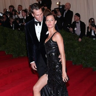 Tom Brady, Gisele Bundchen in Schiaparelli and Prada Impossible Conversations Costume Institute Gala