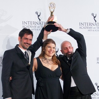 Vinicius Coimbra, Claudia Lage, Joao Ximenes Braga in 41st International Emmy Awards