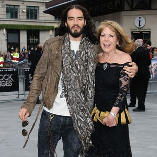 Russell Brand, Barbara Elizabeth in The UK Premiere of Rock of Ages