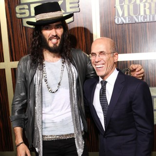 Russell Brand, Jeffrey Katzenberg in Spike TV's Eddie Murphy: One Night Only