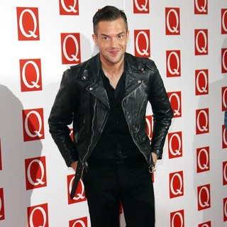 The Killers in The Q Awards 2012 - Arrivals - brandon-flowers-q-awards-2012-03