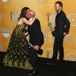 Betsy Brandt, Dean Norris, Aaron Paul in The 20th Annual Screen Actors Guild Awards - Press Room