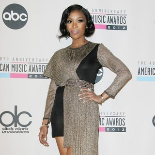 Brandy in The 40th Anniversary American Music Awards - Press Room