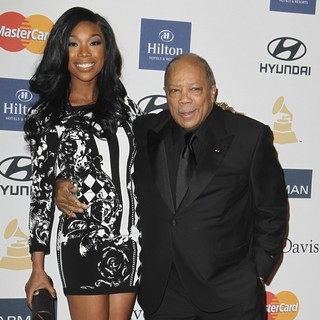 Brandy, Quincy Jones in Clive Davis and The Recording Academy's 2013 Pre-Grammy Gala and Salute to Industry Icons