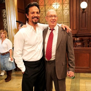 Benjamin Bratt, Dann Florek in Law and Order 20th Season Kickoff Celebration