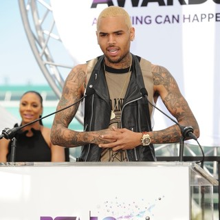 Tamar Braxton, Chris Brown in BET Awards 2013 Press Conference