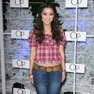 Brenda Song in OP Celebrates Winter Wonderland