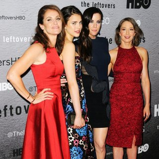 Amy Brenneman, Margaret Qualley, Liv Tyler, Carrie Coon in The Leftovers New York Premiere - Red Carpet Arrivals