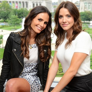 Jordana Brewster, Julie Gonzalo in TNT's Dallas Press Junket