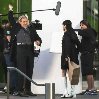 Jeff Bridges, Mary-Louise Parker in Filming Scenes for The Movie R.I.P.D.