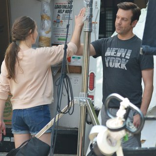 Alison Brie, Jason Sudeikis in Sleeping with Other People Filming in Manhattan