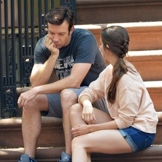 Jason Sudeikis, Alison Brie in Sleeping with Other People Filming in Manhattan