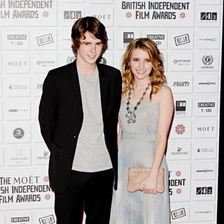 Freddie Highmore, Emma Roberts in The British Independent Film Awards 2010 - Arrivals