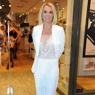 Britney Spears Promoting Her Lingerie Line Intimate Collection
