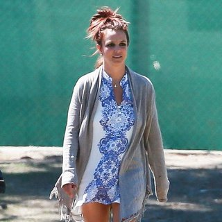 Britney Spears at Her Son's Soccer Game