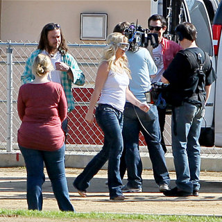 Britney Spears in Britney Spears Filming A Skit to Appear on 'Jimmy Kimmel Live!' Tonight