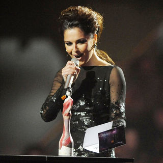 Cheryl Cole in The BRIT Awards 2011 - Inside