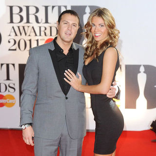 Paddy McGuinness, Christine Martin in The BRIT Awards 2011 - Arrivals