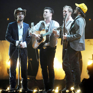 Mumford & Sons in The BRIT Awards 2011 - Inside