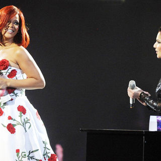 Rihanna, Cheryl Cole in The BRIT Awards 2011 - Inside