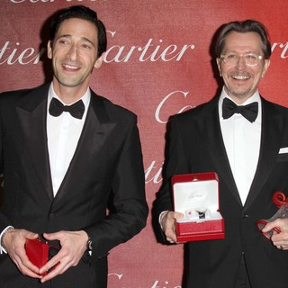 Adrien Brody, Gary Oldman in The 23rd Annual Palm Springs International Film Festival Awards Gala - Press Room