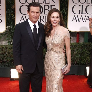 Josh Brolin, Diane Lane in The 69th Annual Golden Globe Awards - Arrivals
