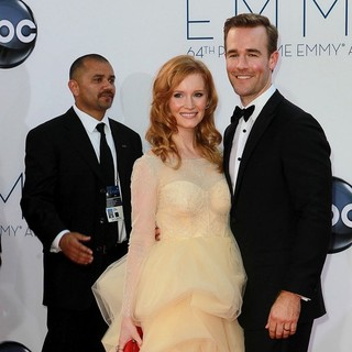 Kimberly Brook, James Van Der Beek in 64th Annual Primetime Emmy Awards - Arrivals