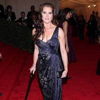 Brooke Shields in Schiaparelli and Prada Impossible Conversations Costume Institute Gala