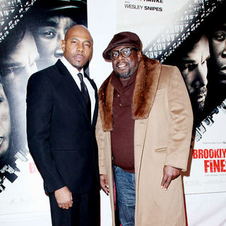 Antoine Fuqua, Cedric the Entertainer in New York Premiere of 'Brooklyn's Finest'