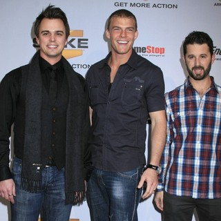 Darin Brooks, Alan Ritchson, Chris Romano in Spike TV's 7th Annual Video Game Awards at The Nokia Event Deck