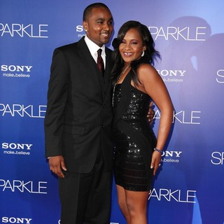 Nick Gordon, Bobbi Kristina Brown in The Los Angeles Premiere of Sparkle - Inside Arrivals