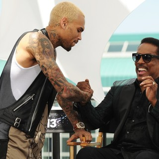 Chris Brown in BET Awards 2013 Press Conference - brown-wilson-bet-awards-2013-press-conference-02