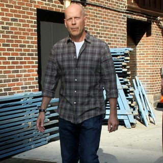 Bruce Willis in Celebrities for The Late Show with David Letterman
