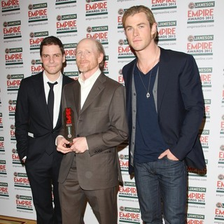 Daniel Bruhl, Ron Howard, Chris Hemsworth in The Empire Film Awards 2012 - Press Room