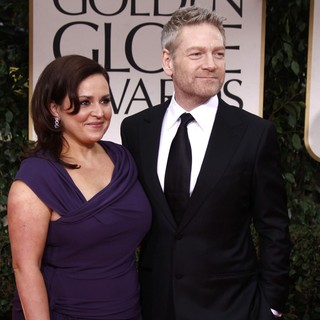 Lindsay Brunnock, Kenneth Branagh in The 69th Annual Golden Globe Awards - Arrivals