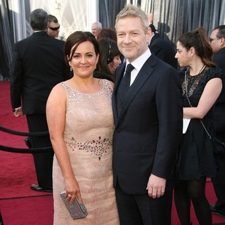 Lindsay Brunnock, Kenneth Branagh in 84th Annual Academy Awards - Arrivals